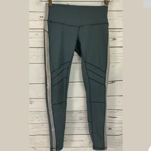 Zella Nordstrom Mesh Trim Full Length Leggings